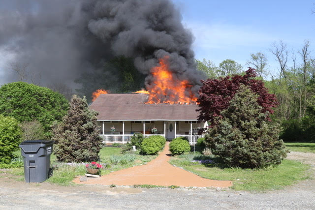 Working House Fire in Providence Township