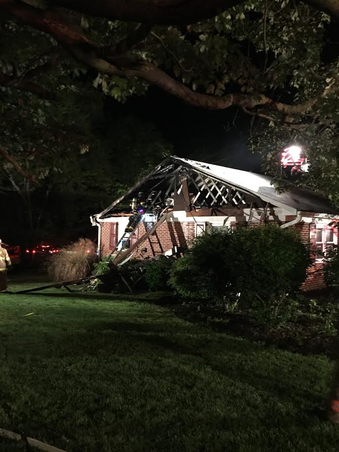 House Fire in Strasburg Township