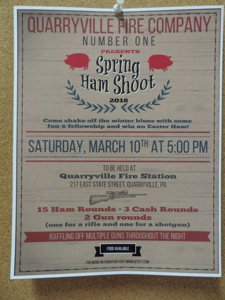 Annual Spring Ham Shoot and Gun Raffle March 10th