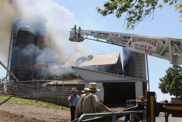 Barn Fire in Bart Township