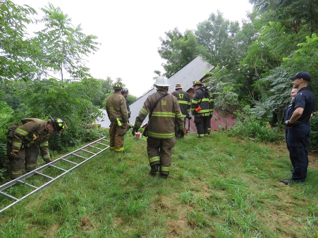 Barn Collapse in Providence Township