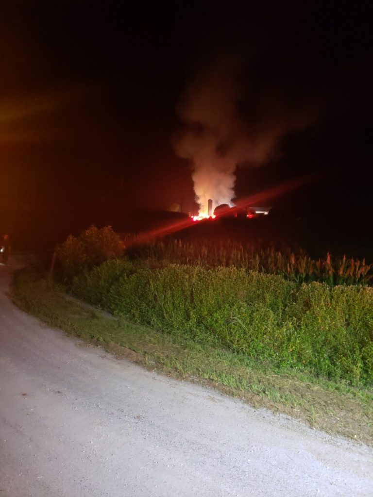 Working Barn Fire in York County