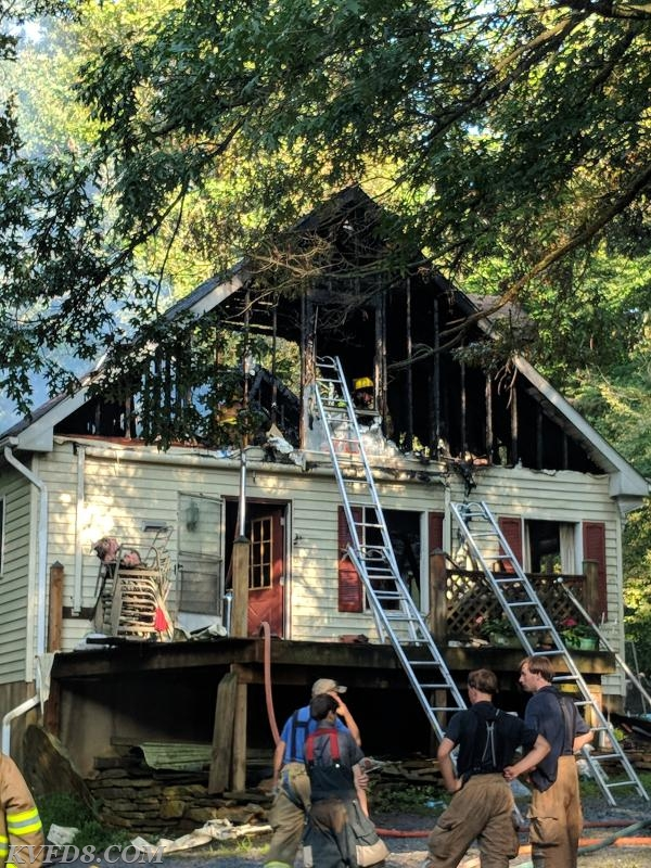 Working House Fire in Sadsbury Township
