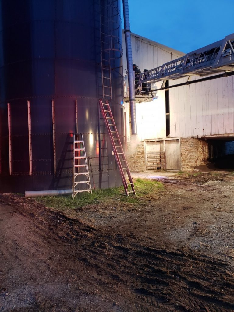 Silo Fire in East Drumore Township