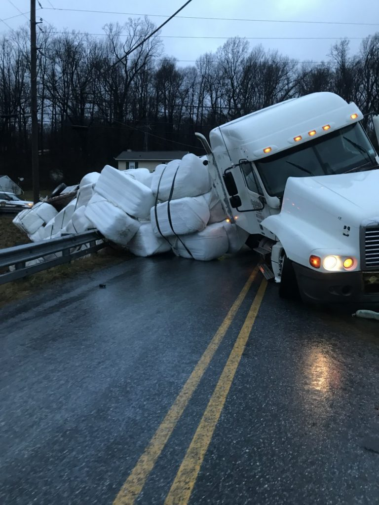 Tractor Trailer Accident in Eden Township