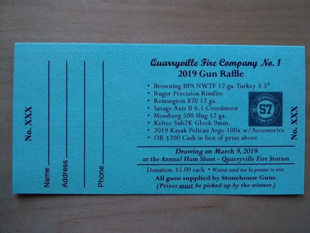 Spring Gun Raffle Tickets Now Available